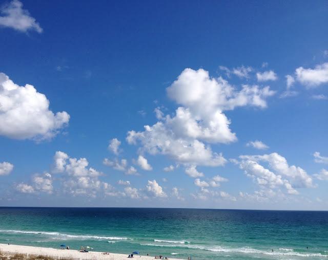Beach and Horizon of Pensacola Beach