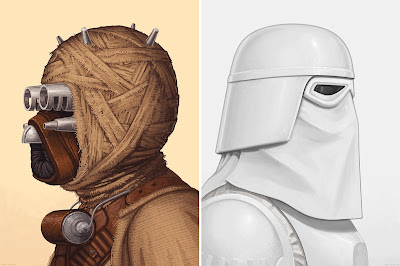 Star Wars Tusken Raider & Snowtrooper Portrait Prints by Mike Mitchell x Mondo