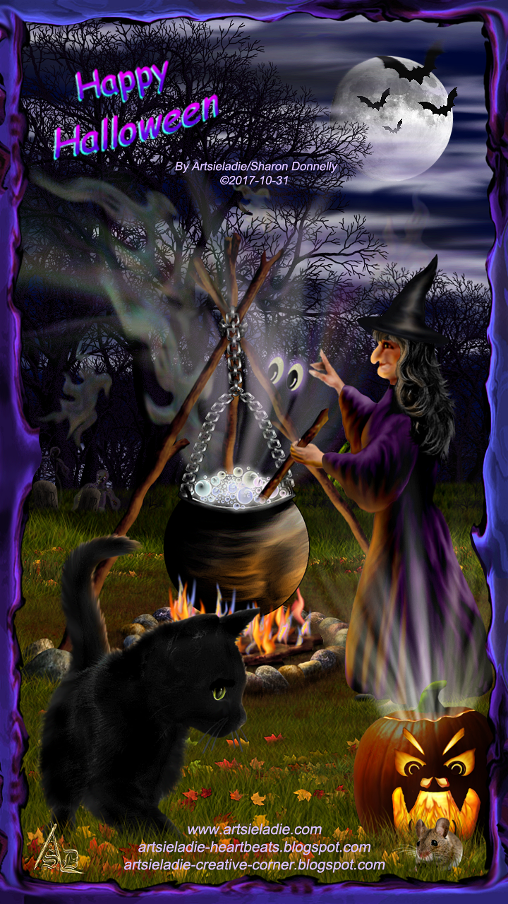Witch's Brew - art by/copyrighted to Artsieladie