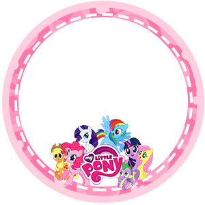 My Little Pony Free Printable Toppers, labels or stickers.