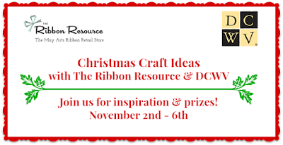 Christmas Craft Ideas - The Ribbon Resource + DCWV Blog Hop