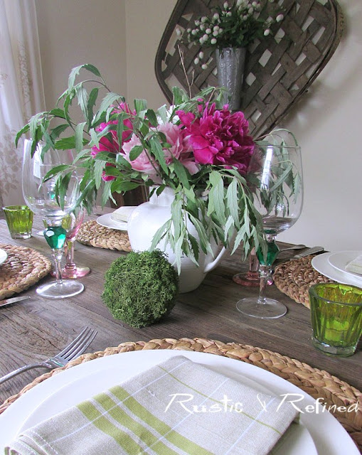 Tablescape using natural elements