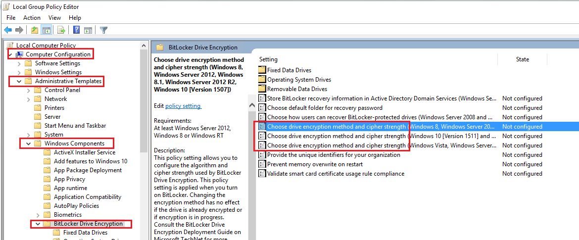 Techies Sphere: How to change BitLocker AES 128Bit encryption method