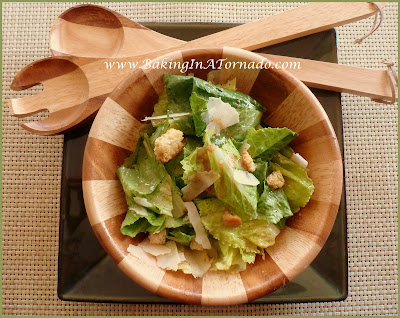Caesar Salad with Eggless Dressing | www.BakingInATornado.com | #recipe #dinner