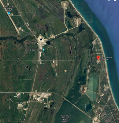 Google Maps image of KSC and SpaceX Complex 40