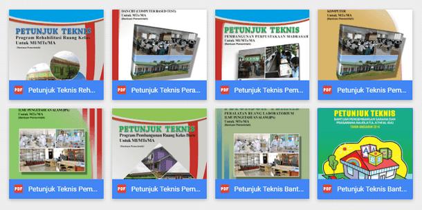 Juknis Bantuan Sarana dan Prasarana Madrasah Lengkap (Bantuan Pemerintah - Kemenag RI)