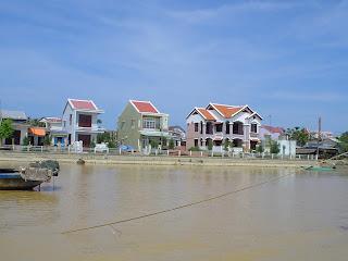 Case lungo il fiume Thu Bon a Hoi An, Vietnam