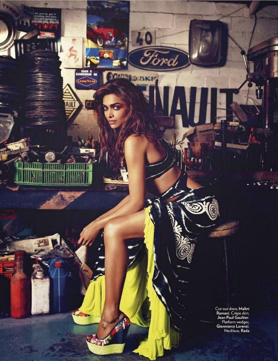 Deepika Padukone Flaunting her Long Legs in Vogue