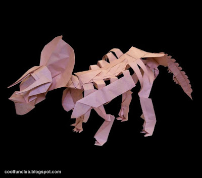 Dinosaurio de papel - Papiroflexia u origami