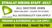 Latest Jobs in Etisalat - Submit Your Resume