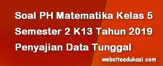 Soal PH Matematika Kelas 5 Semester 2 Bab Penyajian Data Tunggal