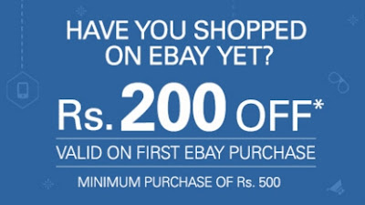 eBay Valentine's week promotion for their new users - Now Place an order Above Rs.500 and get flat Rs.200 off.