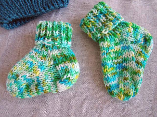 chaussettes tricotées pour bébé