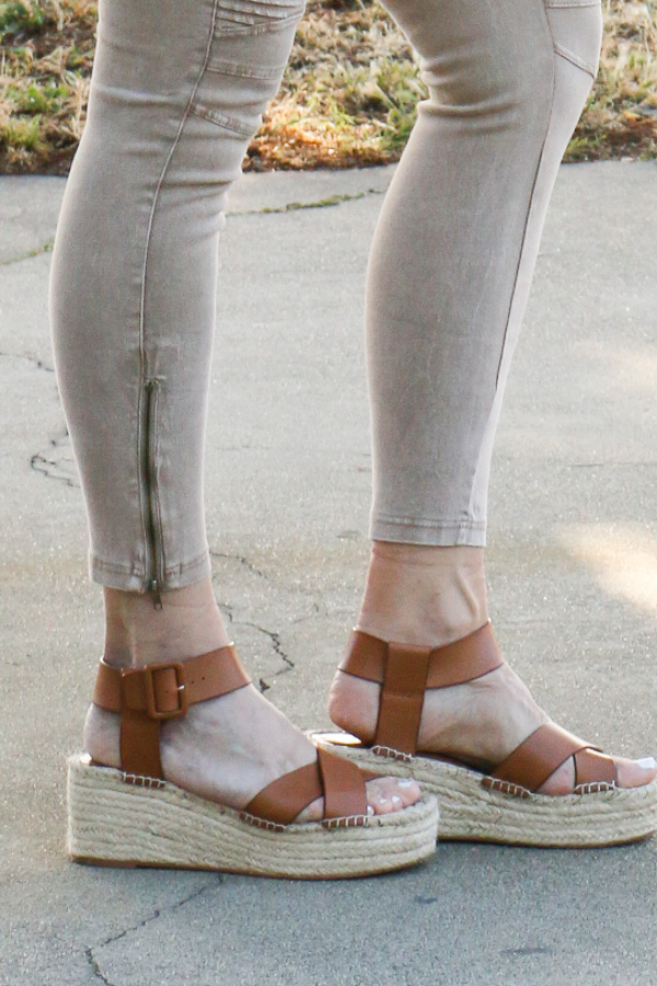 cognac flatform espadrille sandals