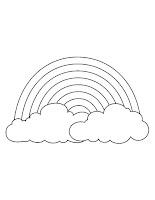 דפי צביעה קשת בענן