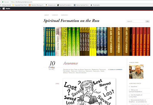Blogging at Spiritual Formation on the Run