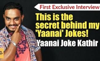 This is the secret behind my 'Yaanai' Jokes! | Yaanai Joke Kathir, Adithya Tv