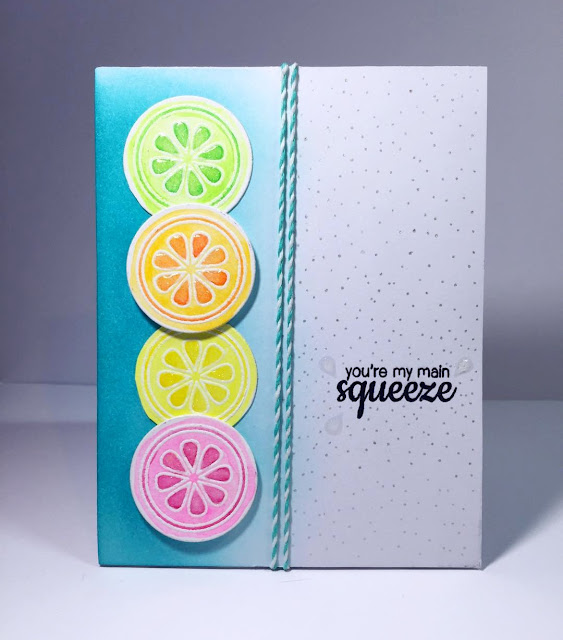 "Sunny Studio Stamps: Fresh & Fruity Citrus Slice ""You're My Main Squeeze"" card by @OwlBeCrafty"