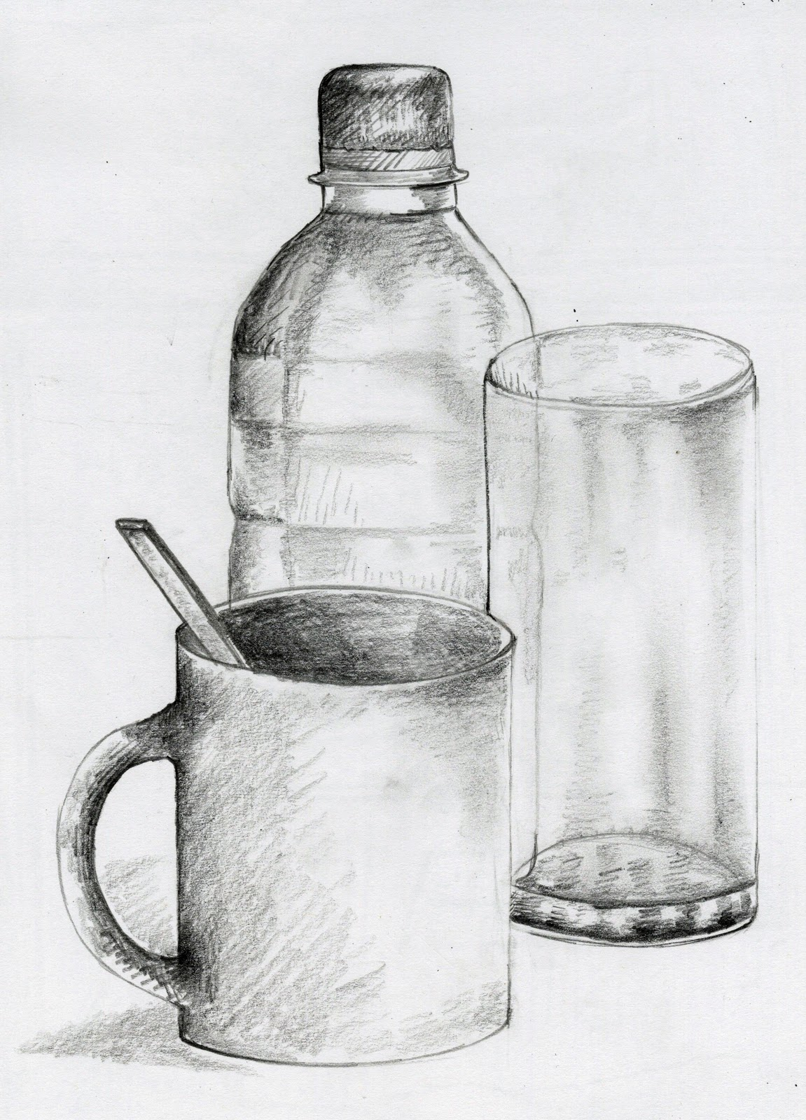 Excellent Images For - Still Life Drawings In Pencil With ...  |Pencil Sketch Simple Object