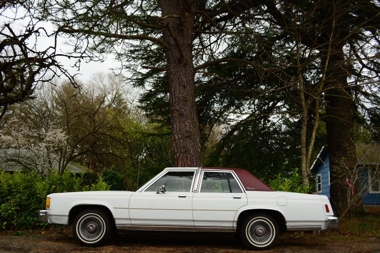 OLD PARKED CARS.: 1984 Ford LTD Crown Victoria.