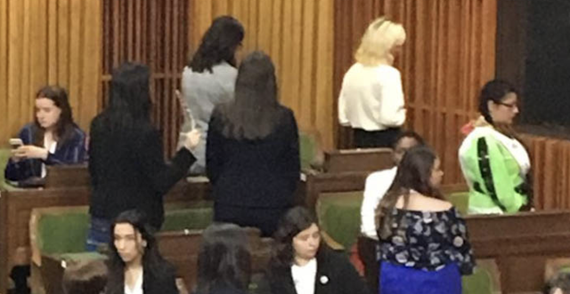 Justin Trudeau's Liberal Caucus Ousts Two Former Cabinet Members (Young Women Turn Their Backs In Protest