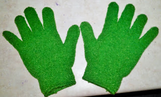exfoliating gloves shower wash body wet dry brush