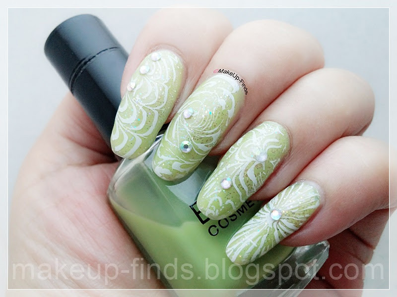 Stamping: Marmoleado con base Greenery (BP-L061) - MakeUp-Finds