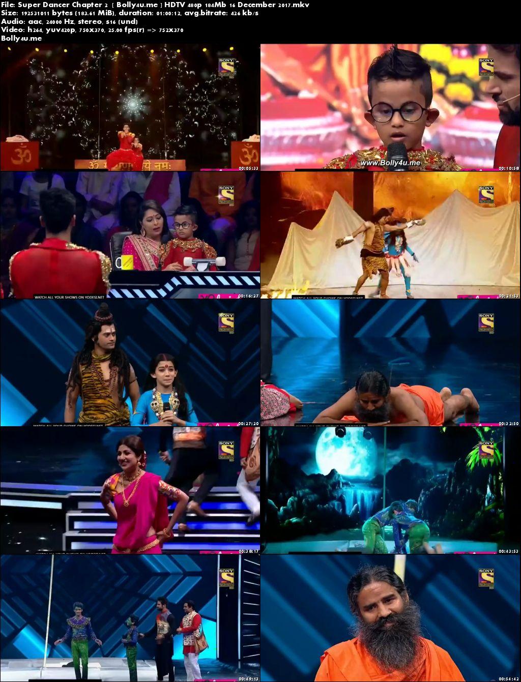Super Dancer Chapter 2 HDTV 480p 180Mb 16 Dec 2017 Download