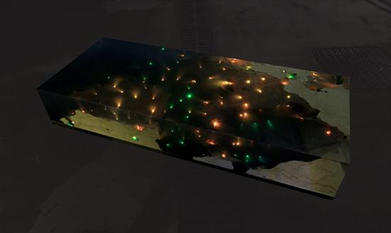 model Meja cantik dipenuhi cahaya, kami menyebutnya andromeda table!!!!!