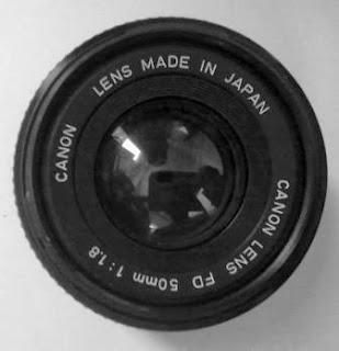 Lensa Canon FD 50mm f/1.8 bagian depan
