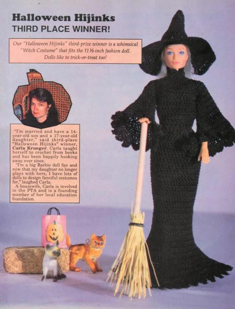 Vestido de Bruxa de Crochê Para Barbie o Halloween Vem Aí!