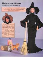 Vestido de Bruxa de Crochê Para Barbie - Halloween Vem Aí!