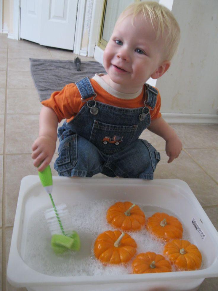 Crunchy and Green: washing pumpkins
