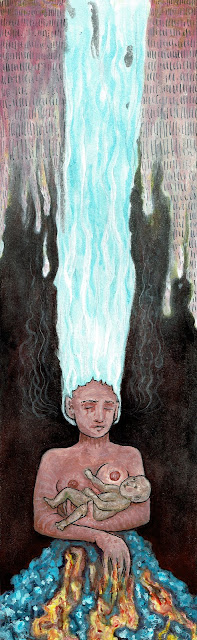 Watercolor, gouache, & ink on hot press paper