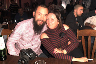 Happy couple taken on the night out