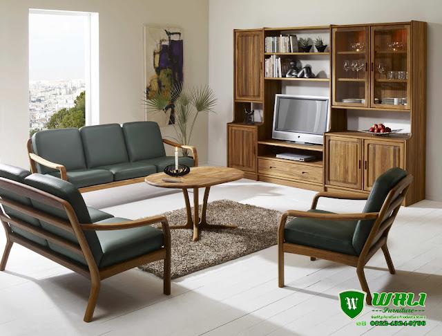 Sofa Tamu Minimalis Set Murah Jati Elegan Ruang Tamu Kecil