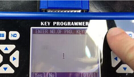 Enter key numbers to be programmed
