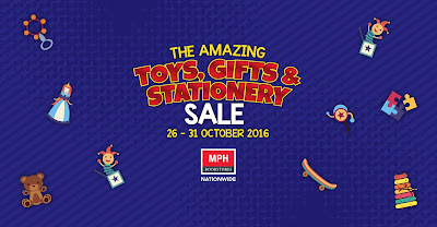 MPH Bookstore Malaysia Toy Sationery Sale Buy 1 Free 1 Promo