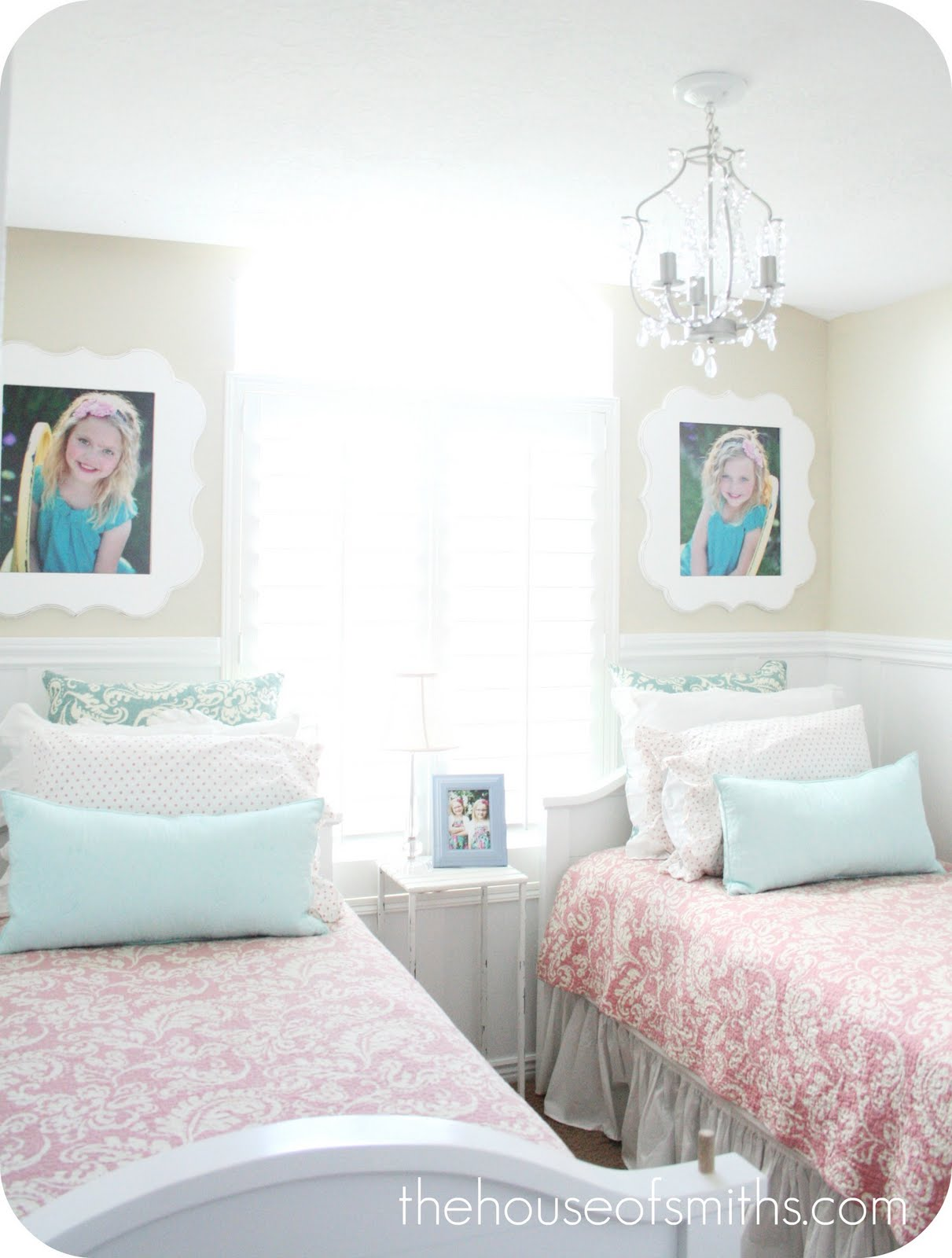 Orange blossom shop giveaway twin room decor - Girls shared room ideas ...