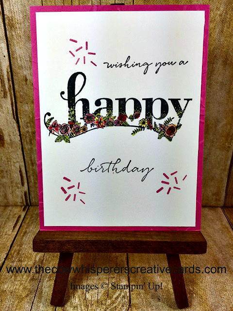 Card, Happy Wishes, Layered Leaves Embossing Folder, Stampin Write Markers