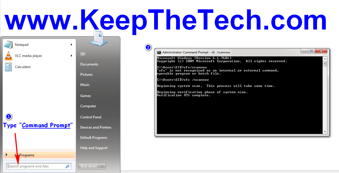 How To Run System File Checker In Windows 10 | KeepTheTech
