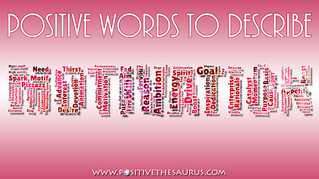 synonyms for motivation and enthusiasm word cloud