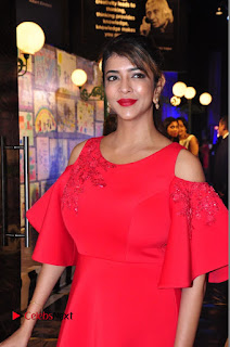 Actress Manchu Lakshmi Pictures in Red Long Dress .COM 0023.JPG