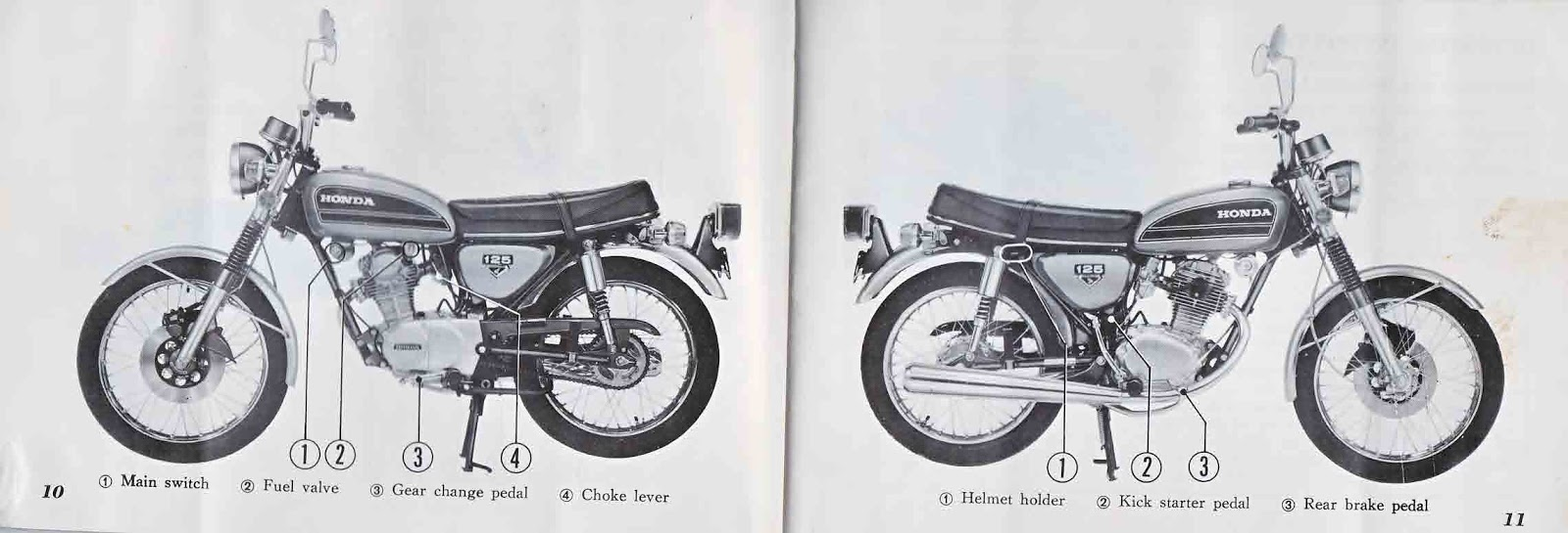 Restored Motorcycle Style: Honda CB125S Owner's Manual