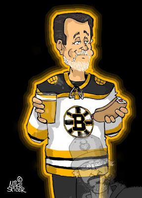 Boston Bruins fans cartoon hockey fan cartoon  caricature gift idea