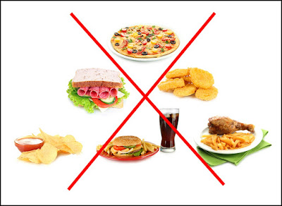 avoid junk food which cause unhealthy