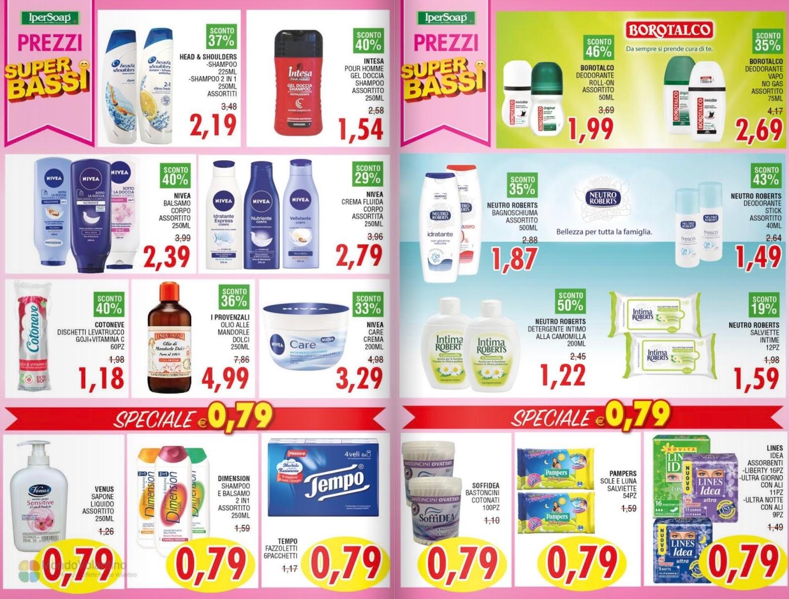Volantino ipersoap dal 17 al 29 luglio for Volantino acqua e sapone sicilia