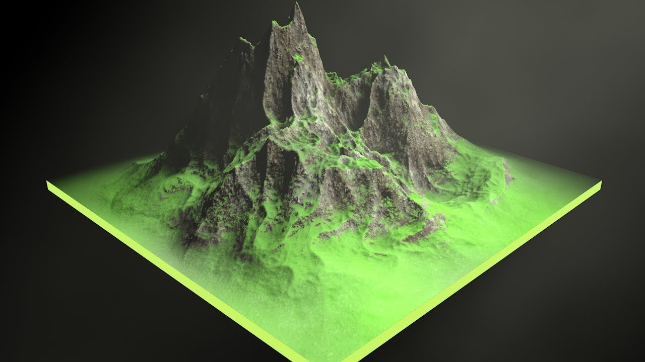 Create A Mountain In 4 Steps In Cinema 4d