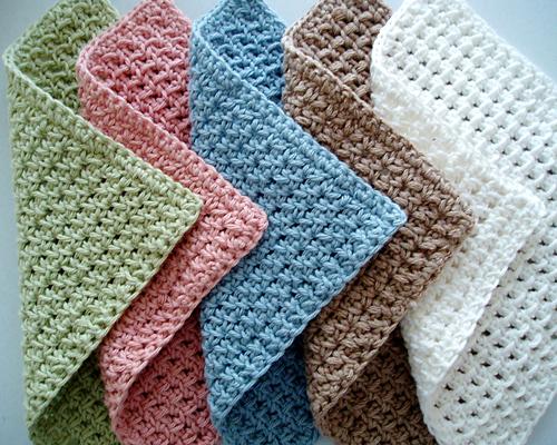 Waffle Crochet Spa Washcloth - Free Pattern