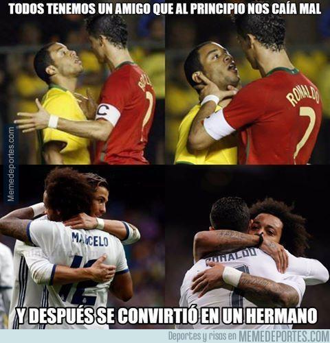 Cristiano y Marcelo: amigos inseparables